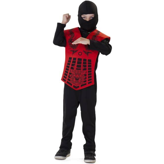 Kostüm - Roter Ninja - für Kinder - 3-teilig - verschiedene Größen