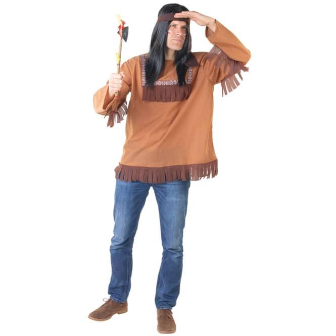 Kostüm - Indianer - für Erwachsene - 2-teilig - verschiedene Größen