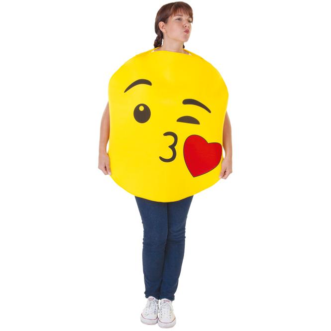 Kostüm - Emoticon - Kuss - für Erwachsene