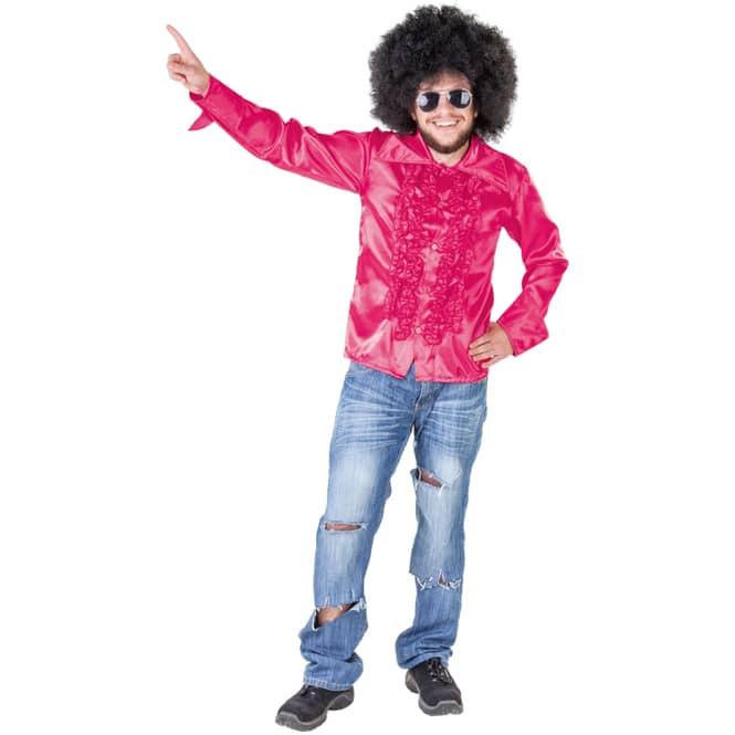 Discoshirt - für Erwachsene - pink - verschiedene Größen