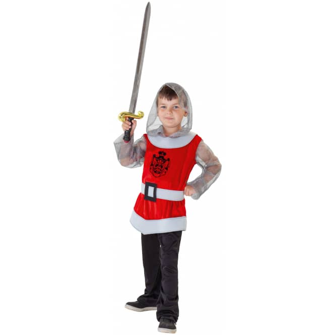 Kostüm - Roter Ritter - für Kinder - 3-teilig - verschiedene Größen