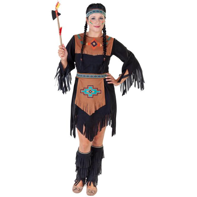 Kostüm - Indianerin - für Erwachsene - 3-teilig - verschiedene Größen