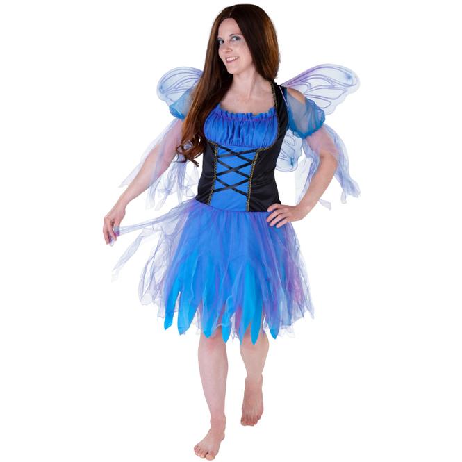 Kostüm - Blaue Fee - für Erwachsene - 2-teilig - verschiedene Größen