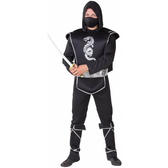 Kostüm - Ninja - für Erwachsene - 5-teilig - Größe 52/54