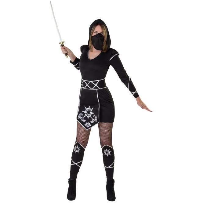 Kostüm - Ninjalady - für Erwachsene - 4-teilig - verschiedene Größen