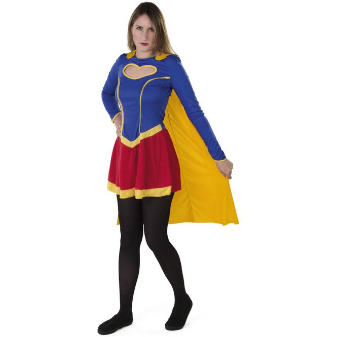 Kostüm - Heldin - für Erwachsene - 2-teilig - verschiedene Größen