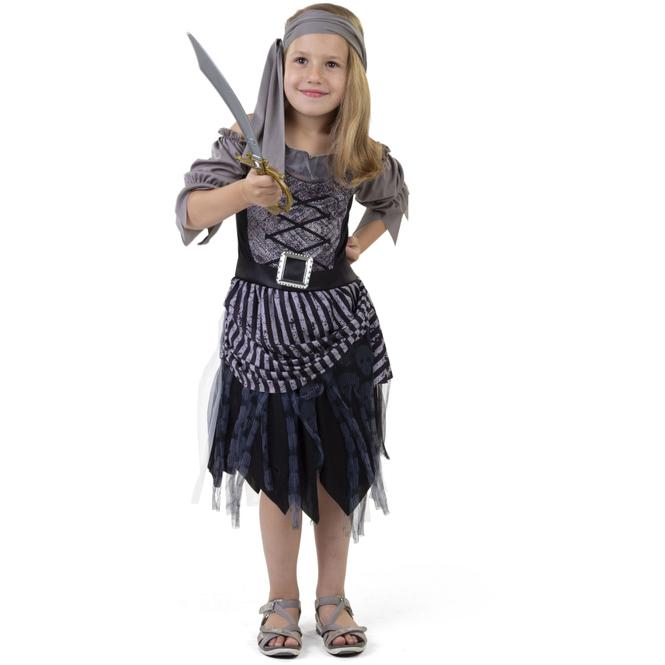 Kostüm - Piratin - für Kinder - 2-teilig - Größe 134/140