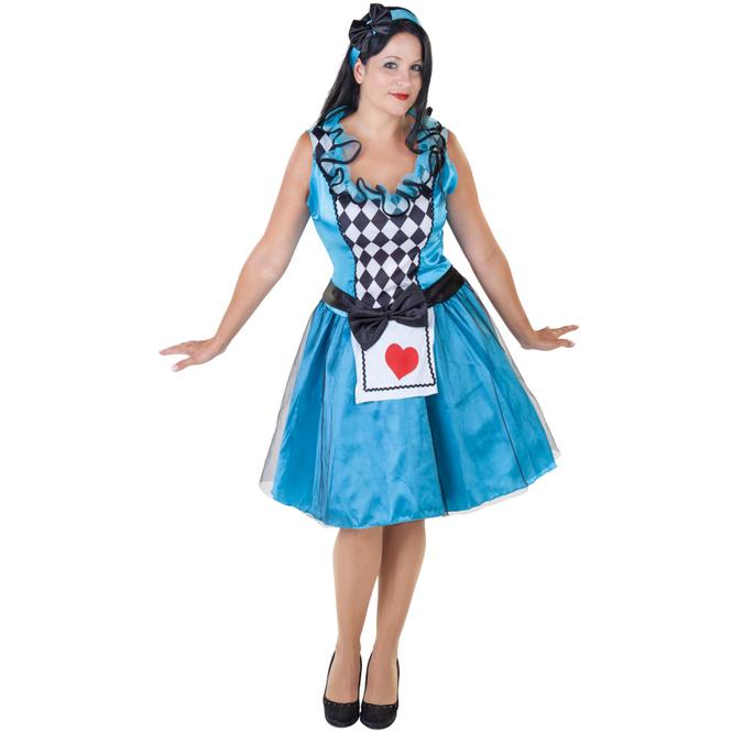 Kostüm - Herzdame - für Erwachsene - 3-teilig - Größe 36/38