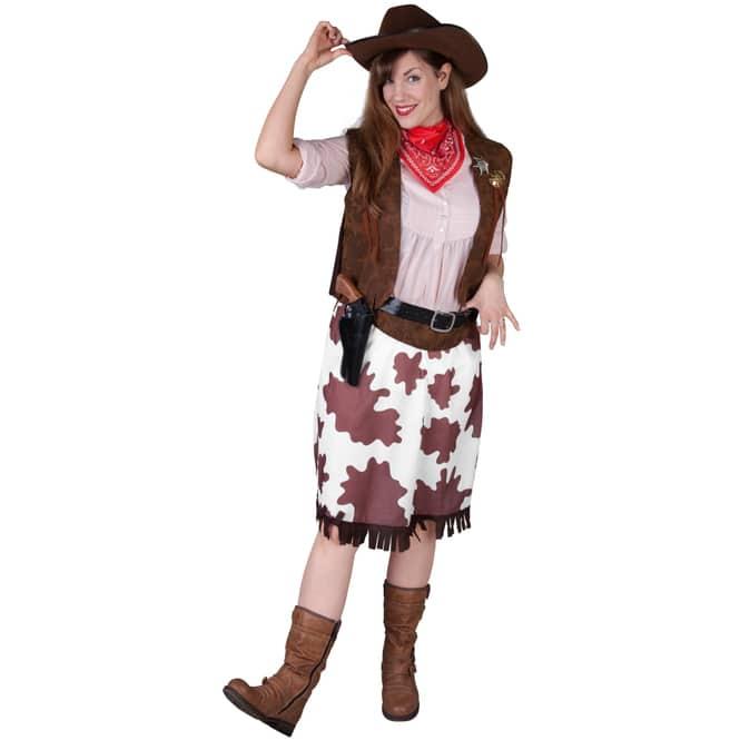 Kostüm - Cowgirl - für Erwachsene - 4-teilig - Größe 36/38