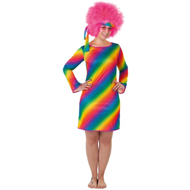 Kostüm - Regenbogen-Hippie - für Erwachsene - verschiedene Größen