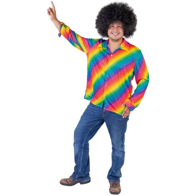 Kostüm - Regenbogen-Hemd - für Erwachsene - verschiedene Größen