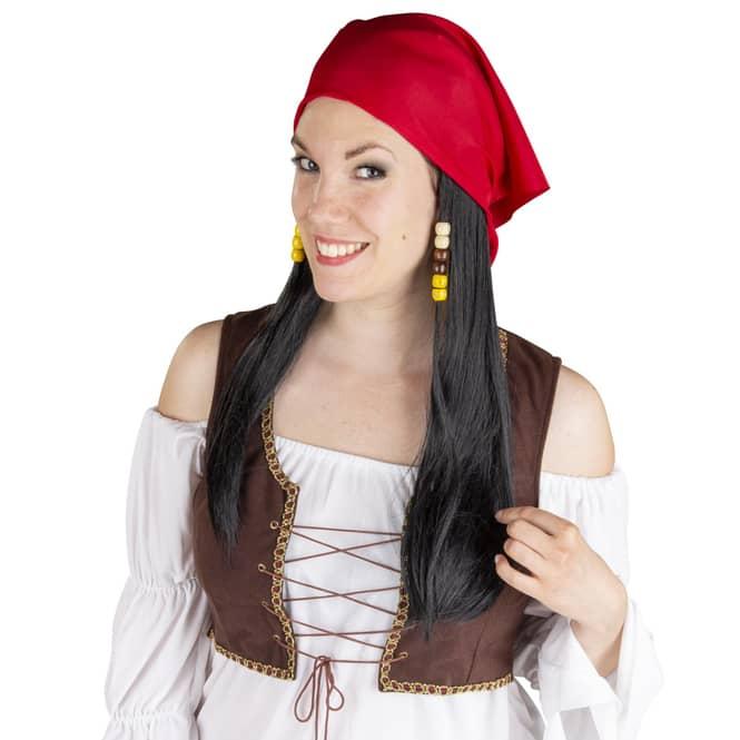Langhaarperücke für Erwachsene - Piratin