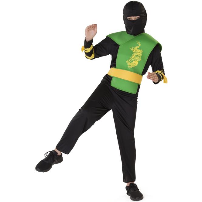 Kostüm - Ninja - für Kinder - 5-teilig - Größe 122/128