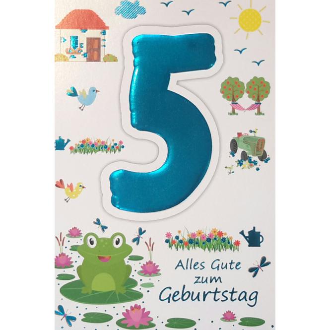 Zahlengeburtstagskarte 5. Geburtstag