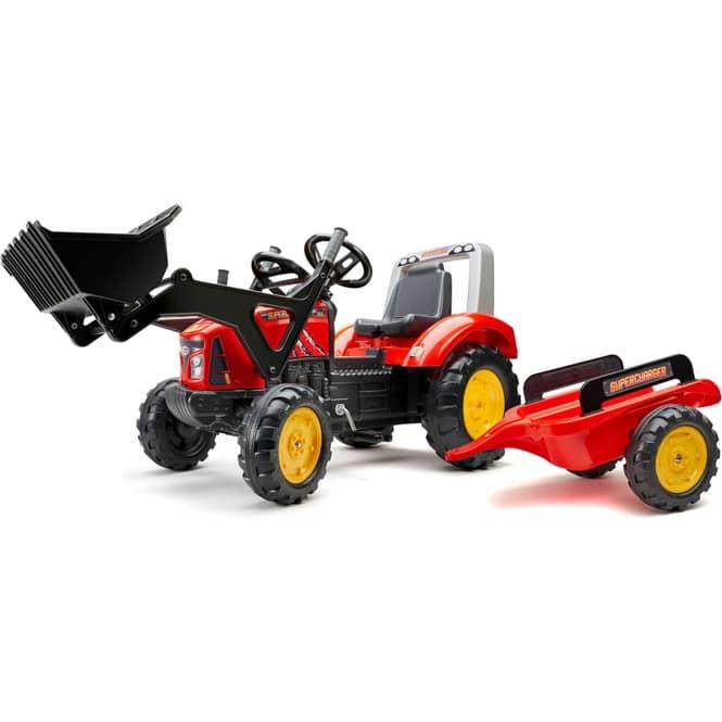 Falk -  Traktor Supercharger - ca. 195 cm - rot