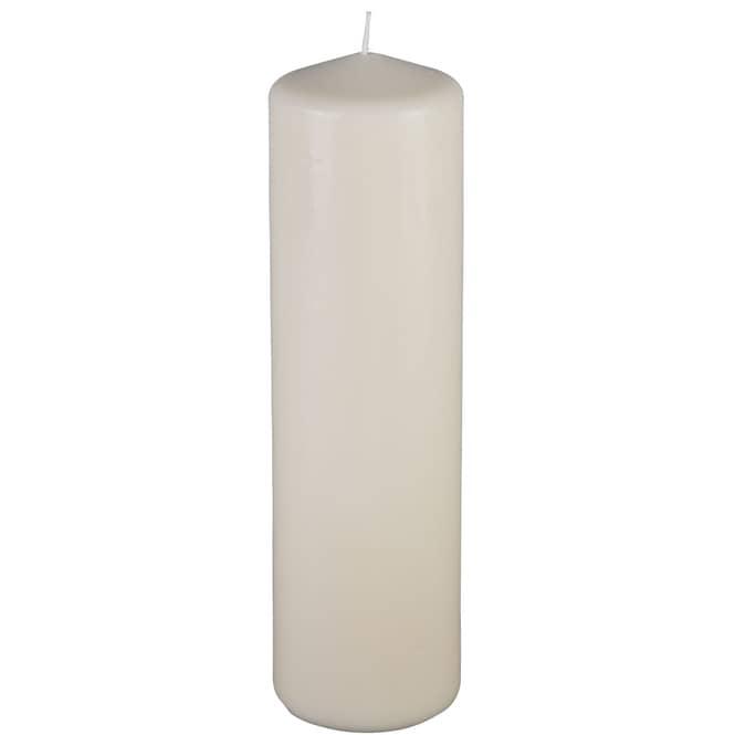 Windlichtkerze - ca. 20 x 8 cm - creme