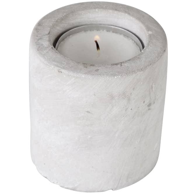 Kerzenhalter - aus Zement - 6,5 x 6 cm