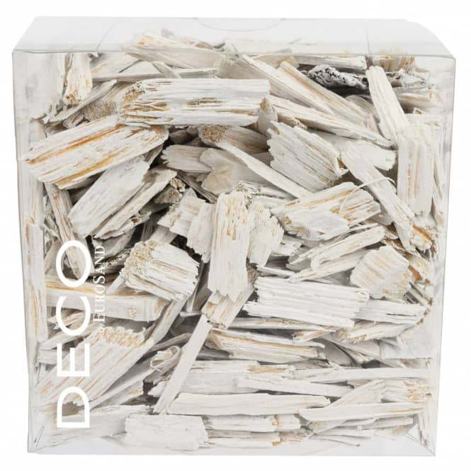 Streudeko - Holzflakes - ca. 150 g- weiß