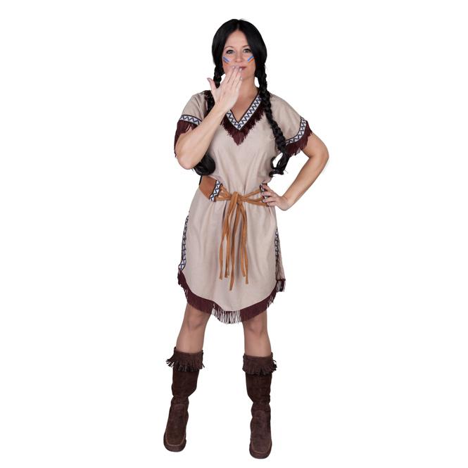 Kostüm - Indianerin Heller Stern - für Erwachsene - 2-teilig