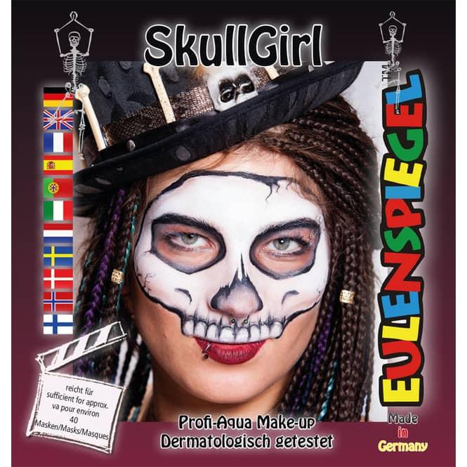 Schminkset - SkullGirl - Make-Up mit Zubehör
