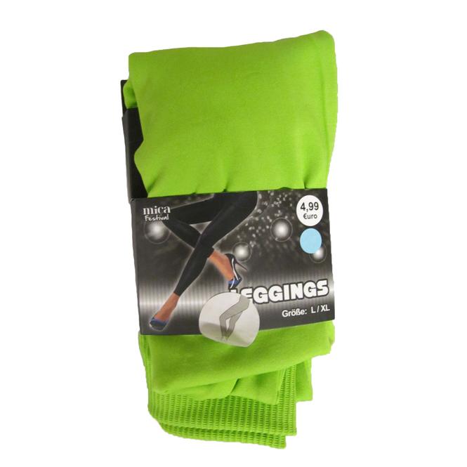 Leggings - für Damen - grün - Größe L/XL