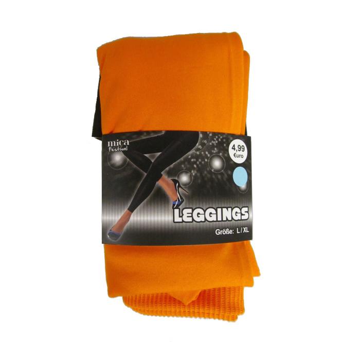 Leggings - für Damen - orange - Größe L/XL