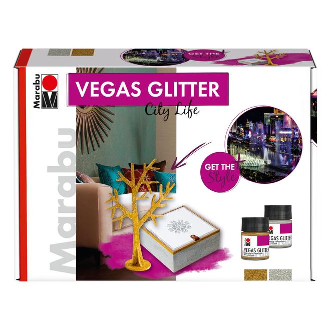Marabu - Effektfarbe - Vegas Glitter Set - City Life