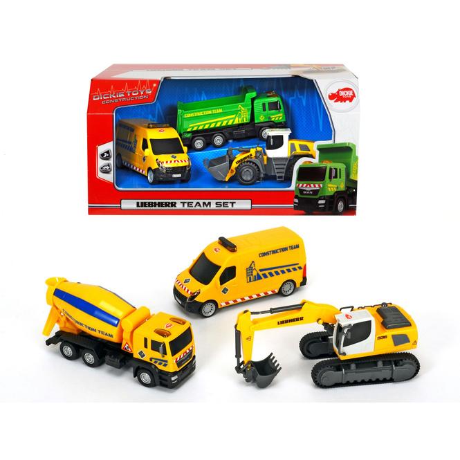 Dickie - Liebherr Team 3er-Set Baustellenfahrzeuge - 1 Stück
