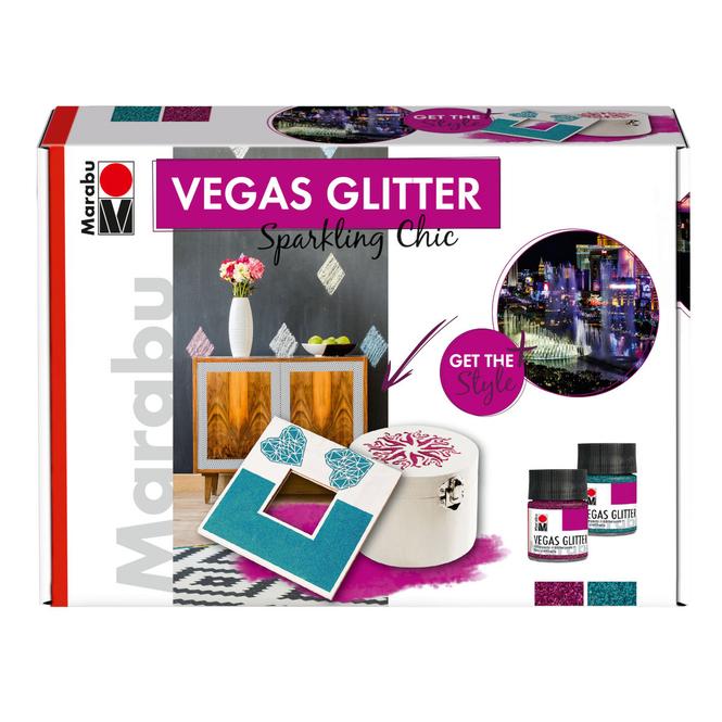 Marabu - Effektfarbe - Vegas Glitter Set - Sparkling Chic