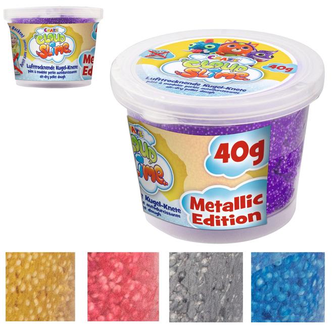 Cloud Slime - Lufttrocknende Kugel-Knete - Metallic - 1 Dose