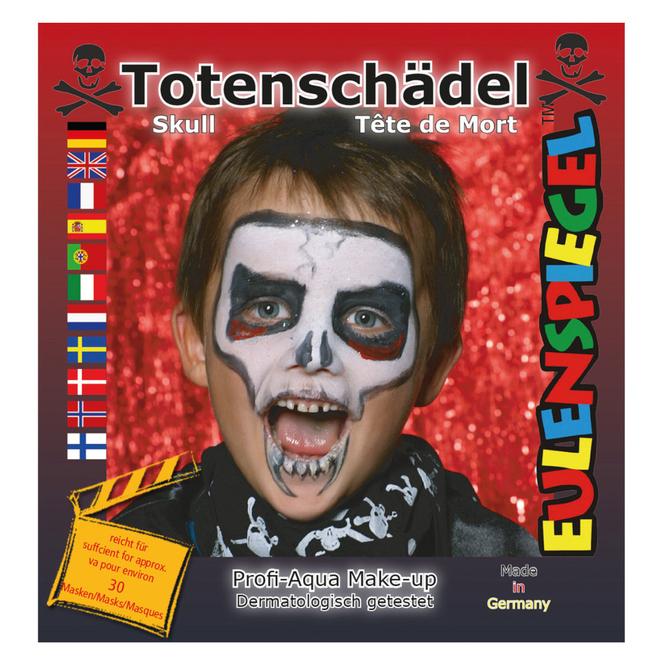 Schminkset - Totenschädel - Make-up mit Zubehör