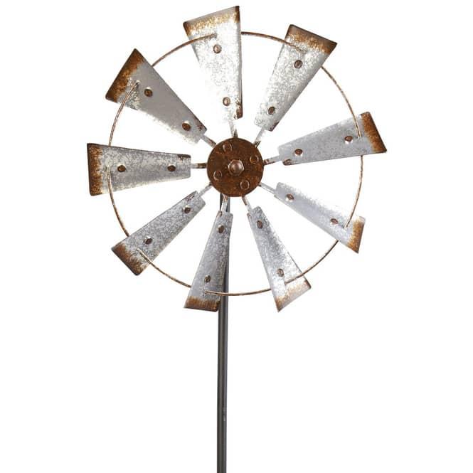 Gartenstecker - Windrad - 33,5 x 11 x 106,5 cm