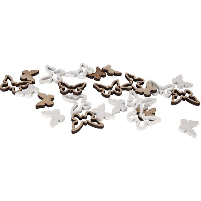 Streudeko - Schmetterlinge - aus Holz - 24 Stück