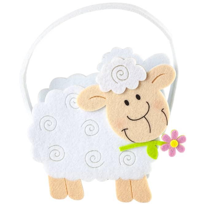 Geschenktasche - Schaf - aus Filz - 20 x 7,5 x 25,5 cm
