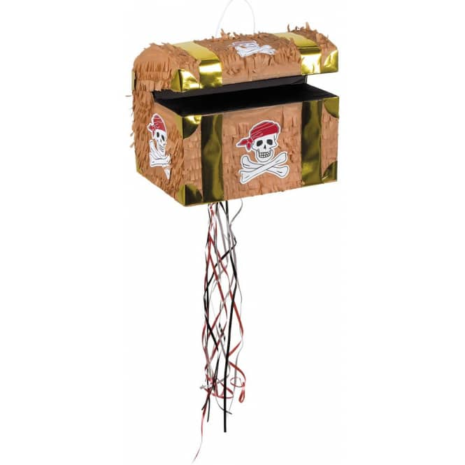 Piñata - Schatztruhe - ca. 30 x 26 cm