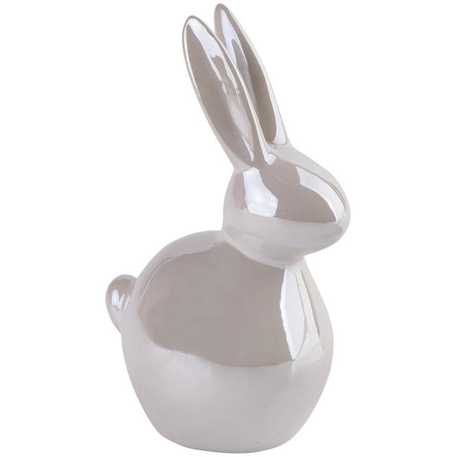 Dekohase mit Perlmutt - aus Keramik - groß