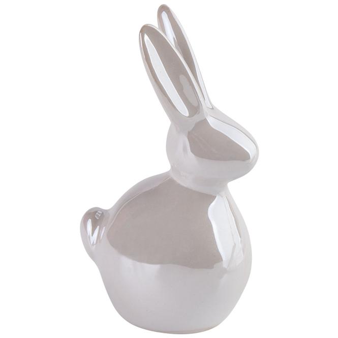 Dekohase mit Perlmutt - aus Keramik - klein