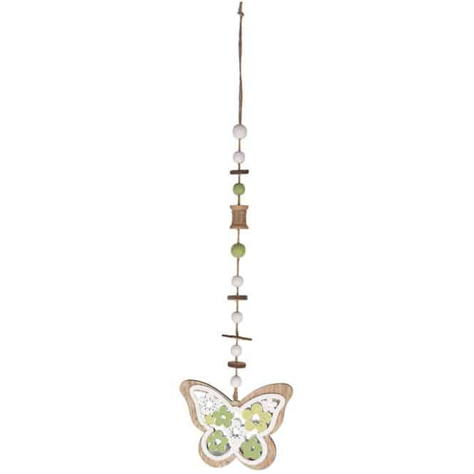 Dekohänger - Schmetterling - aus Holz - 14,5 x 0,5 x 60 cm