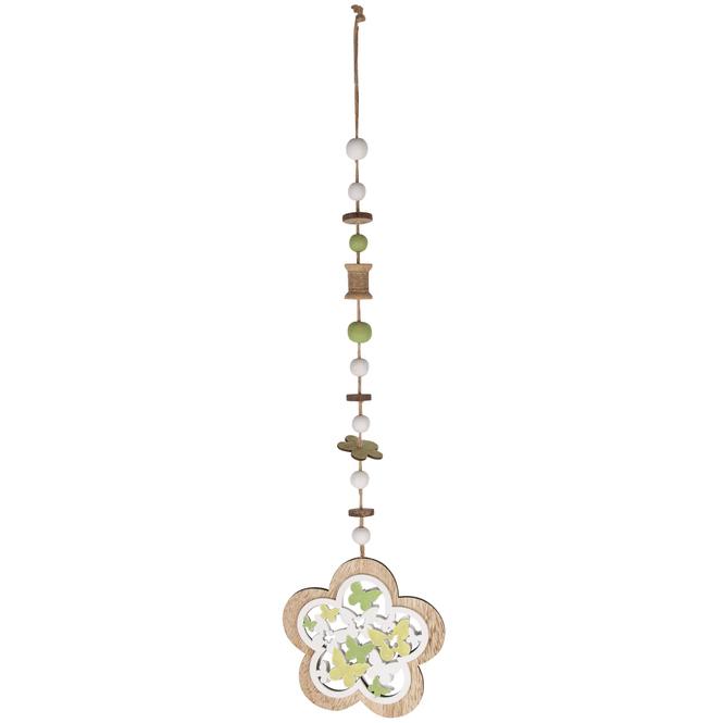 Dekohänger - Blume - aus Holz - 14,5 x 0,5 x 60 cm