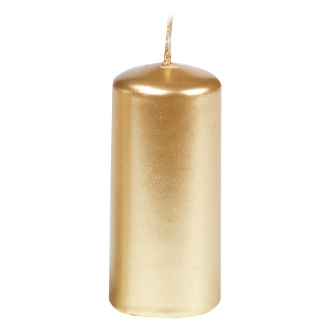Gies Stumpenkerze, gold oder silber 125x50mm