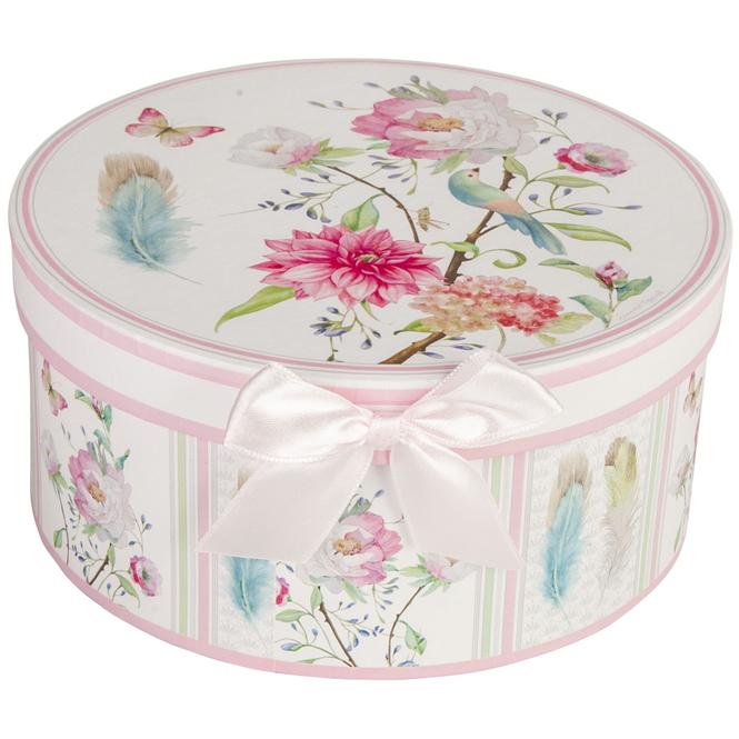 Geschenkbox - Blumen - aus Pappe - mittel