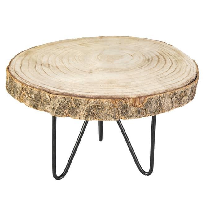 Dekoteller - aus Holz - Ø = ca. 29 cm