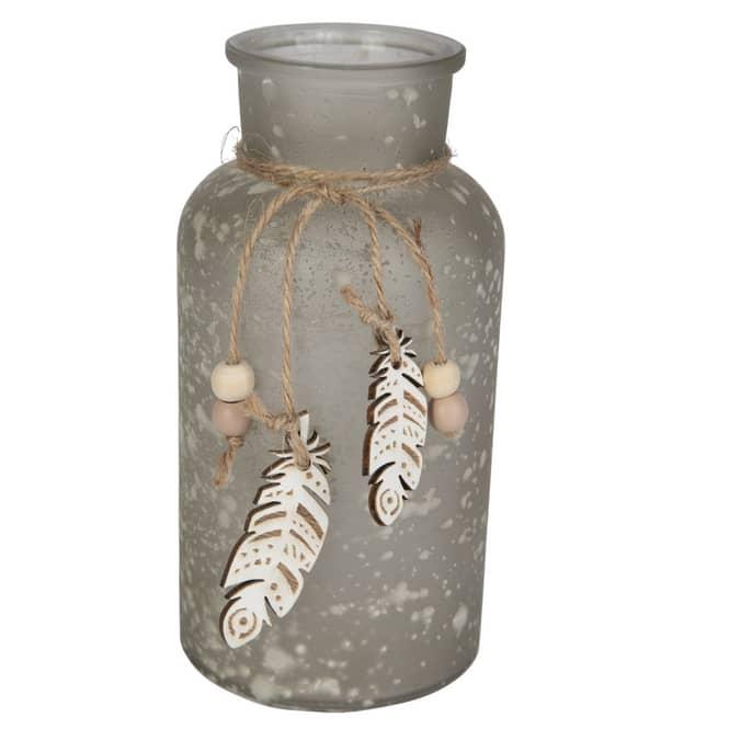 Dekoflasche - aus Glas - ca. 8 x 16,5 cm