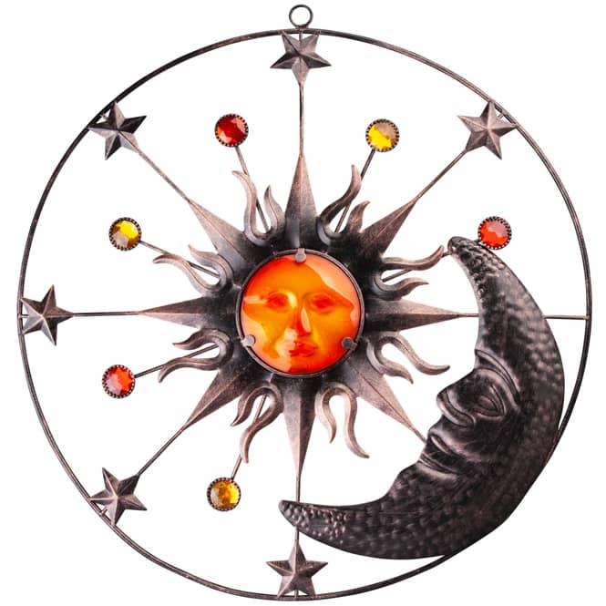 Wanddeko - Sonne, Mond und Sterne - Ø = 51 cm