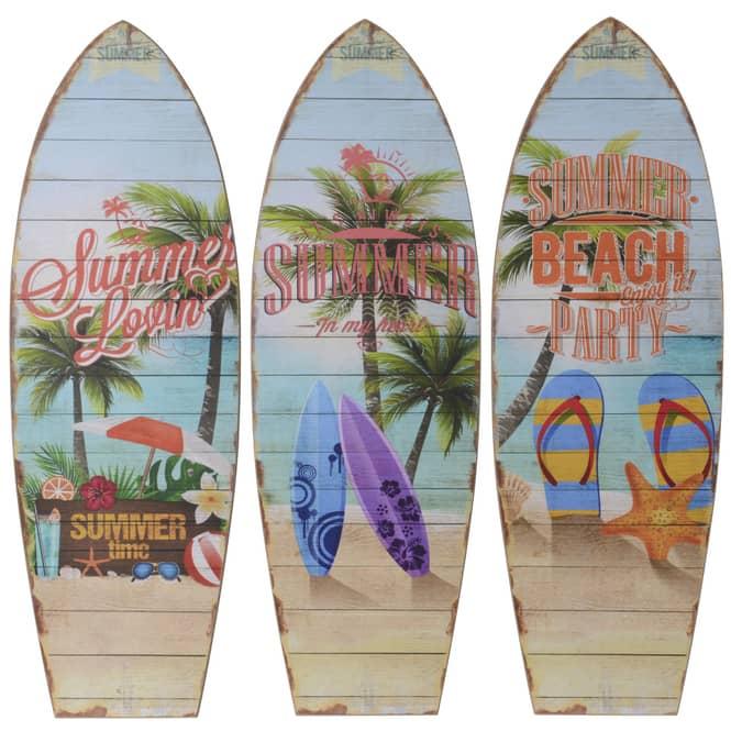 Wanddeko - Surfbrett - aus Holz - ca. 60 x 20 cm - 1 Stück
