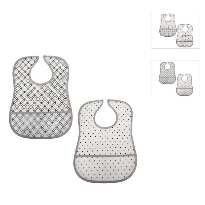 Baby-Lätzchen - 2 Stück - abwaschbar