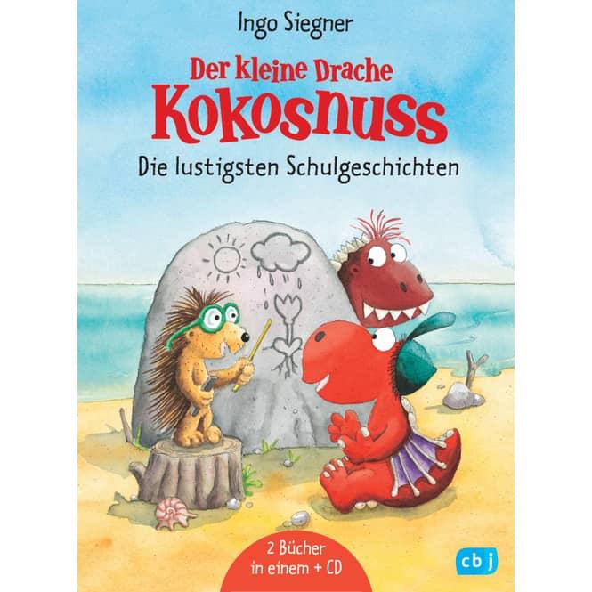 Der kleine Drache Kokosnuss - Die lustigsten Schulgeschichten - Set, 2 Bände mit CD - Band 7