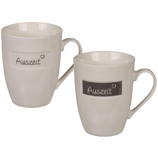 Tasse - Auszeit - aus Keramik - 10 cm - 1 Stück