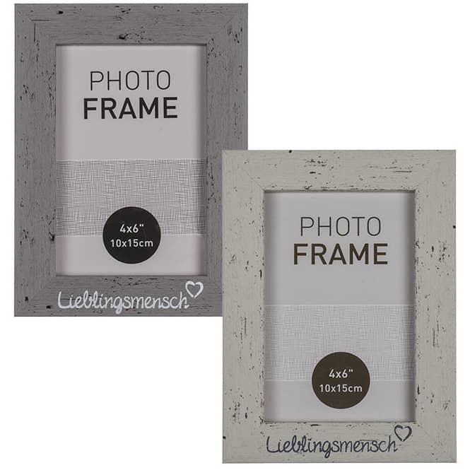 Bilderrahmen - Lieblingsmensch - aus Holz - 14 x 19 x 1,5 cm - 1 Stück