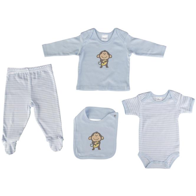 Baby-Erstausstattung - 4-teilig - blau